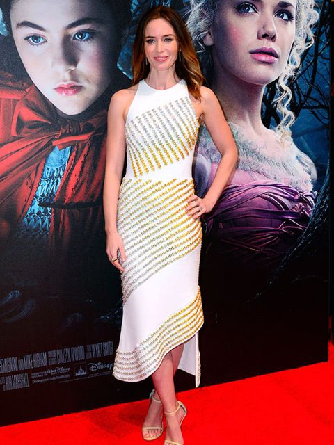 Emily Blunt wears a David Koma dress to the 'Into The Woods' film Gala screening in London, January 2015.