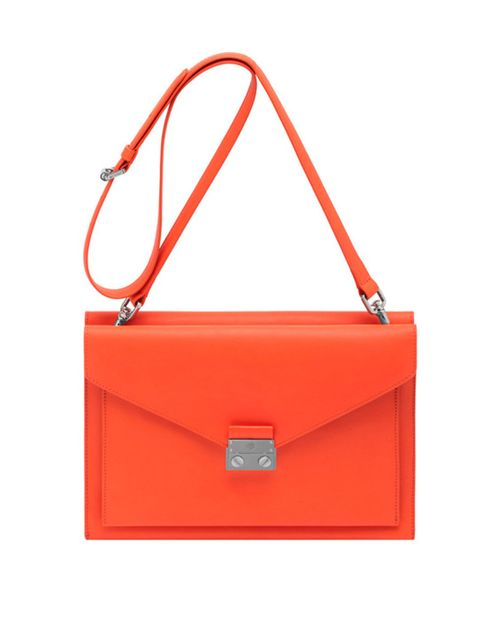<p>Mulberry Kensal shoulder bag in fiery red, spring/summer 2014</p>