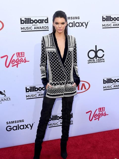 <p>Kendall Jenner in Balmain x H&M  at the Billboard Music Awards in LA, May 2015.</p>