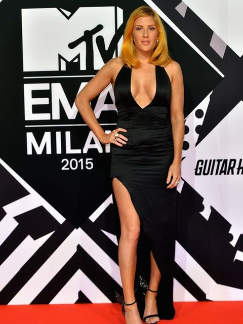 Ellie Goulding on the MTV EMA's red carpet in Italy, October 2015