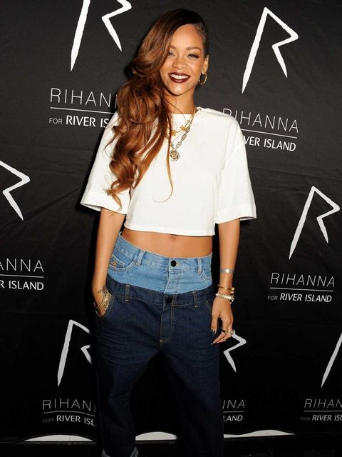 <p>Rihanna arriving at DSTRKT for her River Island launch party</p>