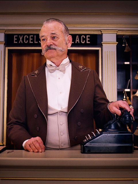 "<p>It's not a <a href=""http://www.elleuk.com/star-style/news/elle-reviews-grand-budapest-hotel-wes-anderson-ralph-fiennes-tilda-swinton-saoirse-ronan-jude-law"">Wes Anderson film</a> without Bill in it (and check out that moustache!)</p>"
