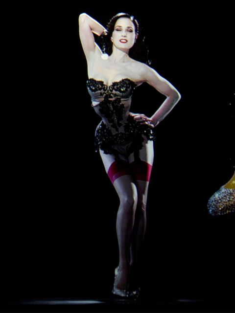 <p>The hologram of Dita Von Teese in the Christian Louboutin exhibition</p>