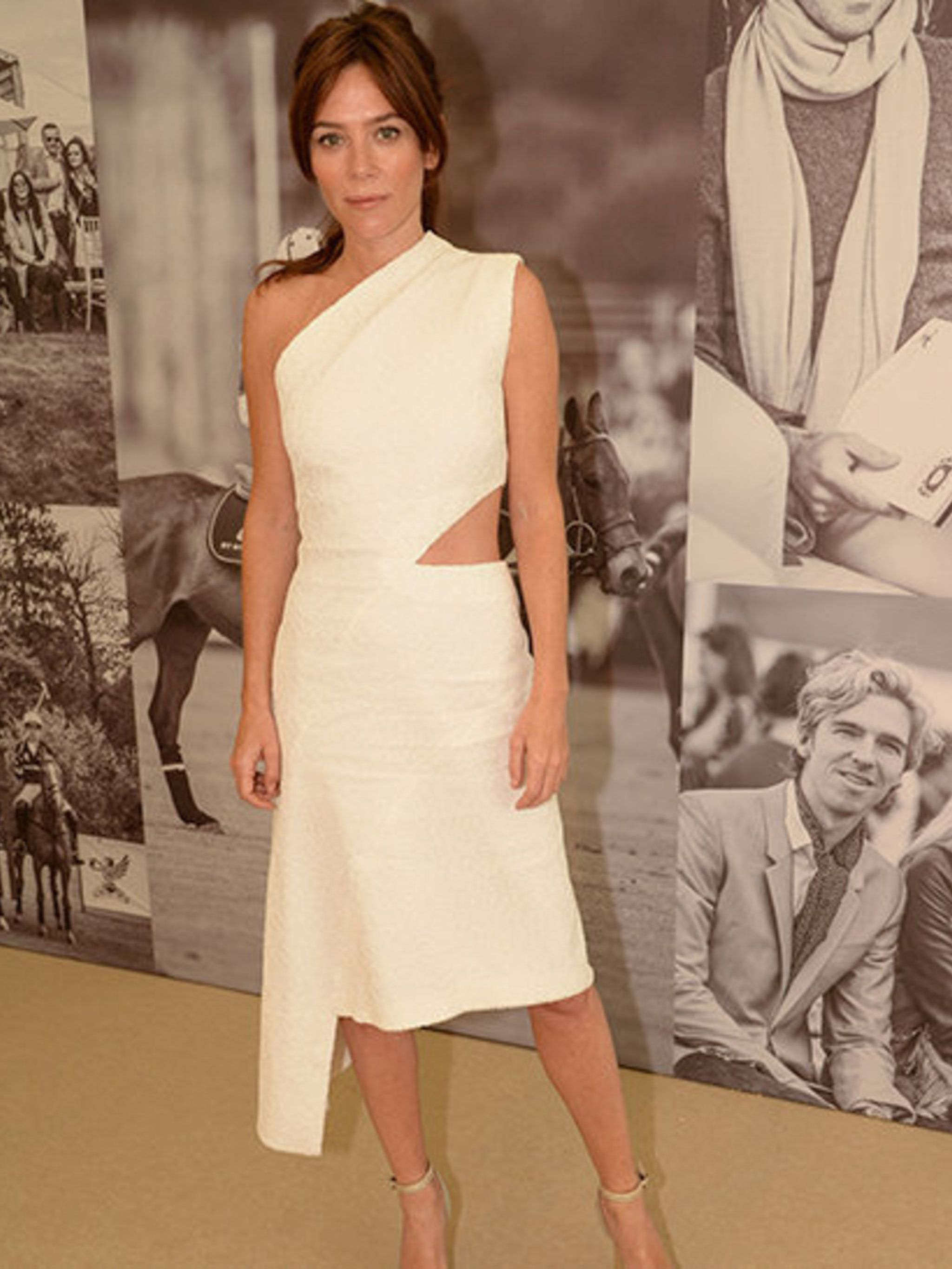<p>Anna Friel wearing Osman at the St. Regis International Cup in May 2014</p>