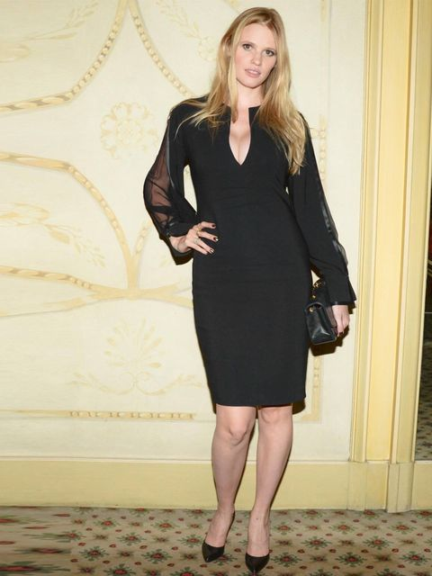 <p>Lara Stone at the <em>Mademoiselle C</em> film screening after party, September 2013.</p>