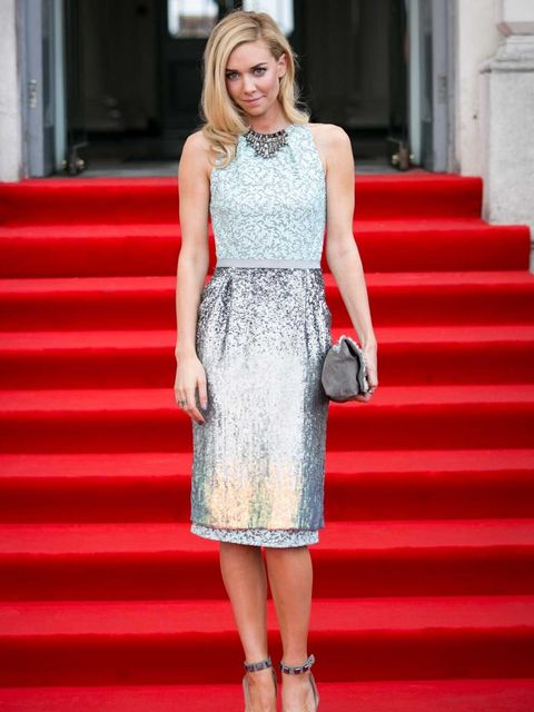 <p>Vanessa Kirby in Matthew Williamson at the world premiere of About Time</p>