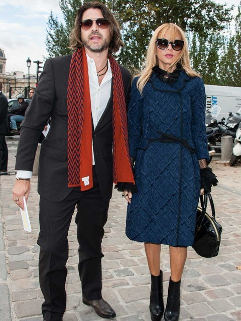 <p>Rachel Zoe front row at Louis Vuitton Spring Summer 2013</p>
