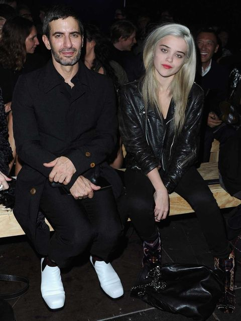<p>Sky Ferreira and Marc Jacobs at Saint Laurent Spring Summer 2013</p>