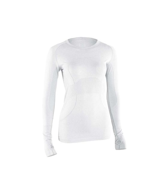 """<p>Lululemon's long-sleeve tee is perfect for layering, and we love the thumbholes that keep sleeves down.<a href=""""http://www.lululemon.co.uk/products/clothes-accessories/run/Run-Swiftly-Tech-Long-Sleeve?cc=11345&skuId=uk_3515581&catId=run""""> Run: Swiftly"""