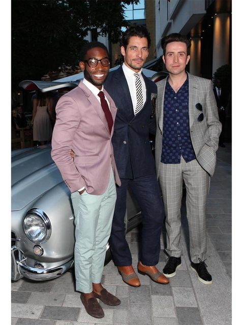 <p>Tinie Tempah, David Gandy and Nick Grimshaw at the closing party for London Collections: Men.</p>