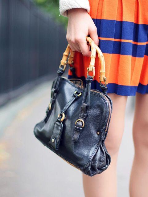 <p>Anastasia Ivanova wears dress from Amsterdam, vintage bag.</p>