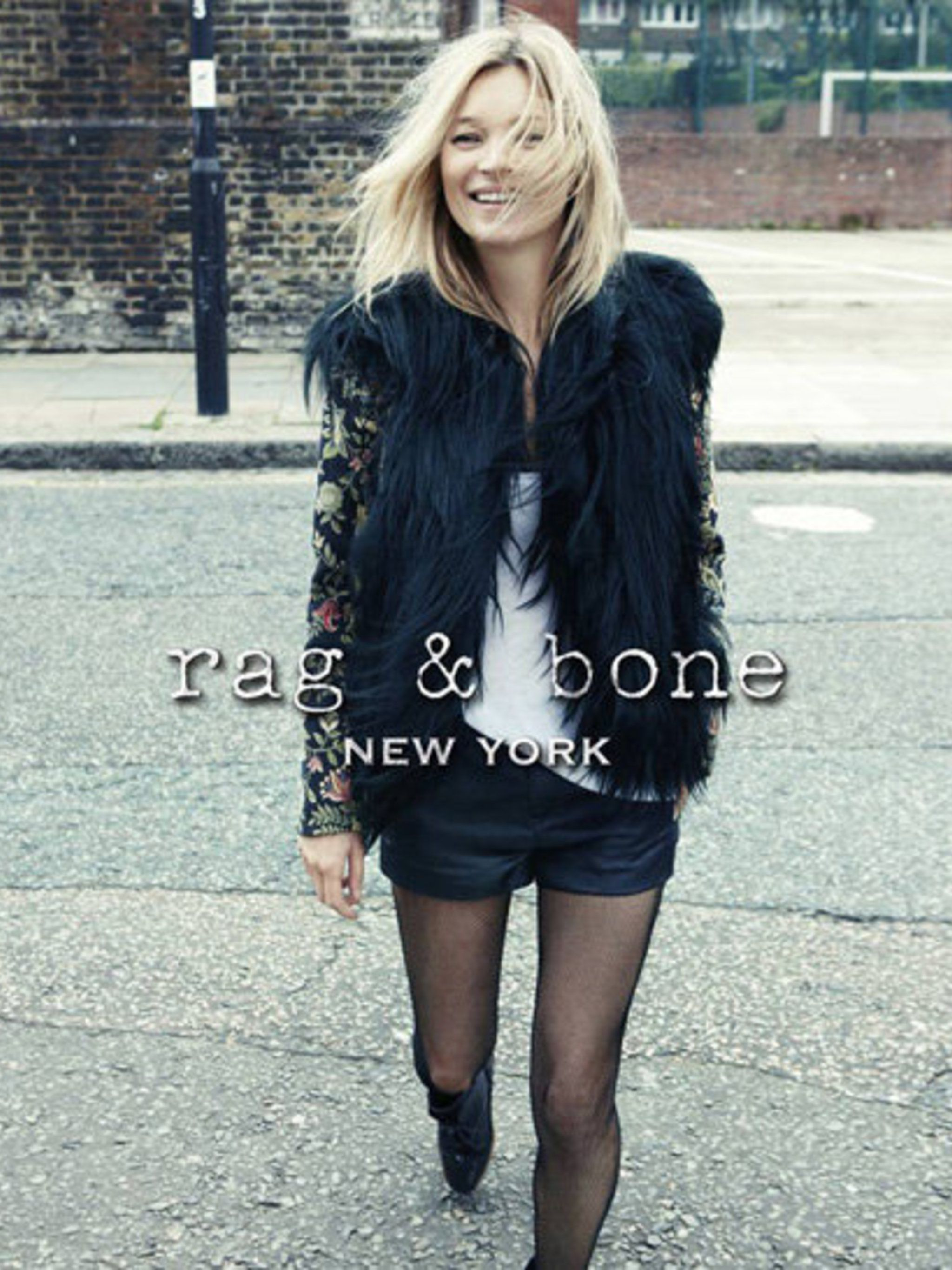 <p>Kate Moss in the Rag &amp&#x3B; Bone AW12 campaign</p>