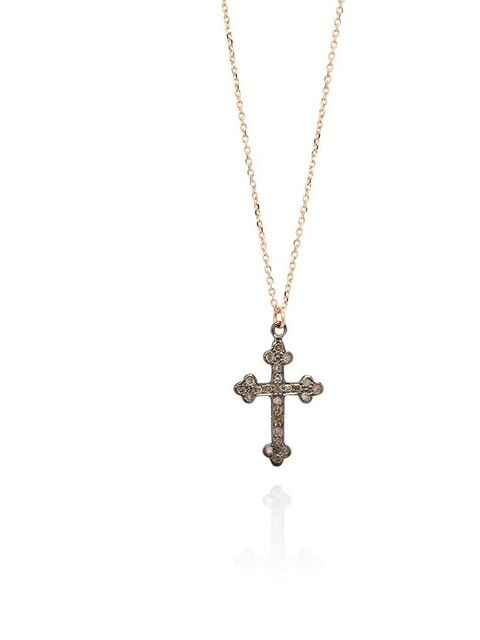 "<p>This diamond cross is small enough to wear everyday - and so beautiful that you'll never want to take it off!</p><p><a href=""http://www.lauraleejewellery.com/diamond-set-ornate-cross-necklace"">Laura Lee Jewellery</a> necklace, £255</p>"