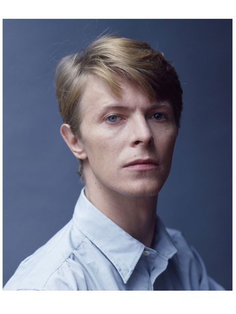 <p>David Bowie in Snowdon Blue</p>