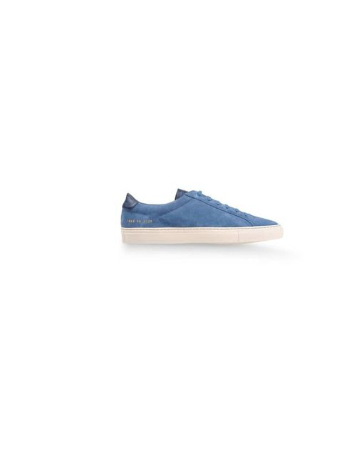 """<p>A pair of blue suede <a href=""""http://www.thecorner.com/gb/men/sneakers_cod44570857wq.html"""">Common Projects</a> trainers, £194 add some casual cool</p>"""