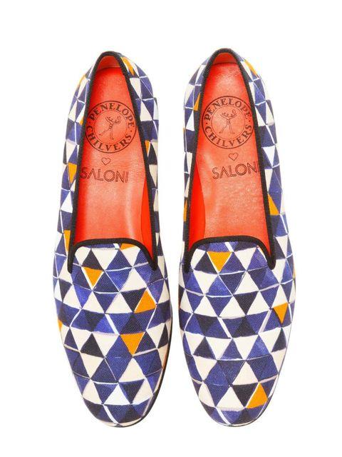 <p>Penelope Chilvers & Saloni 'Dandy' slippers</p>