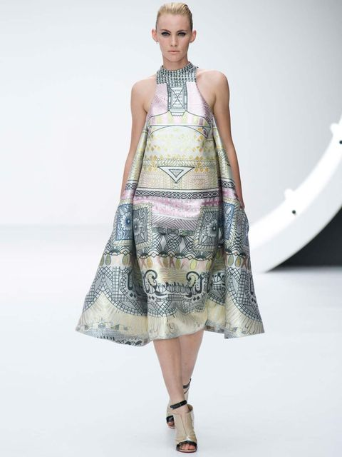<p>Of this beautiful printed trapeze dress from Mary Katrantzou, Natalie Wansborough Jones says: 'This dress would be a gorgeous choice for Kate on a trip to China. The elegant line and intricate prints would make it a lovely choice for meeting and greeti