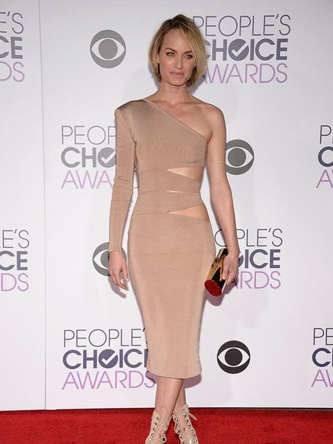 <p>Amber Valetta attends the People's Choice Awards in LA, January 2016</p>