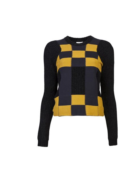 """<p>Kenzo geometric jumper, £332.84, at Farfetch</p><p><a href=""""http://shopping.elleuk.com/browse?fts=kenzo+long+sleeve+sweater"""">BUY NOW</a></p>"""