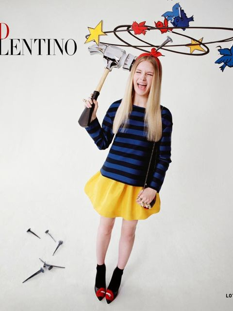Red Valentino campaign featuring Lottie Moss.