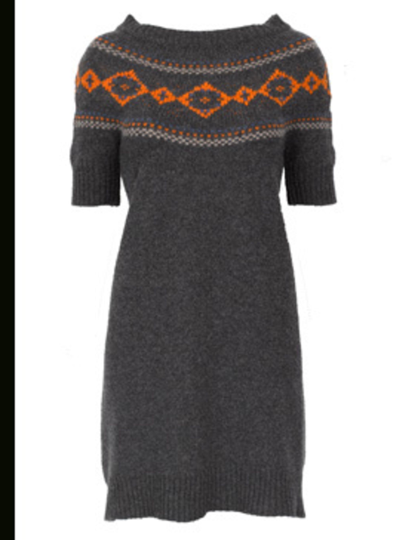<p>Grey Jumper dress, £107 by Comptoir Des Cotonniers call 020 7792 9580</p>