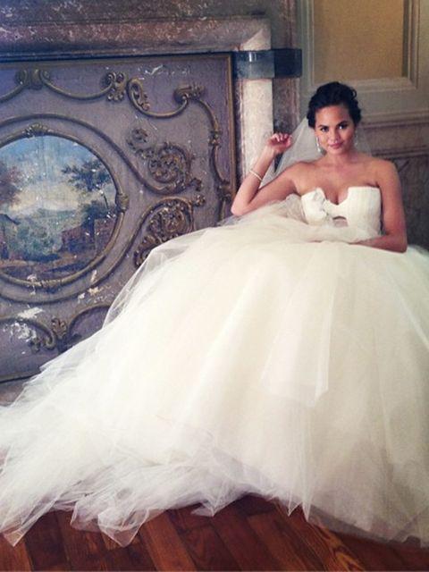 <p>#9</p>  <p>The bride: Chrissy Teigen</p>  <p>The caption: None</p>  <p>Likes: 33.9k</p>