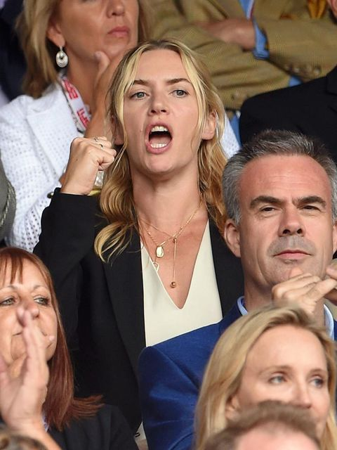 Kate Winslet at Wimbledon 2015 in London.