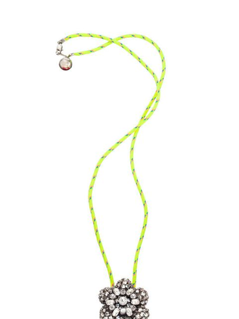 """<p>Prepare to make a statement. The latest Swarovski collaboration mixes neon and gems- what's not to love?... <a href=""""http://www.swarovski-crystallized.com/store/uk/"""">Swarovski Crystallized</a> by Shourouk necklace, £185</p>"""