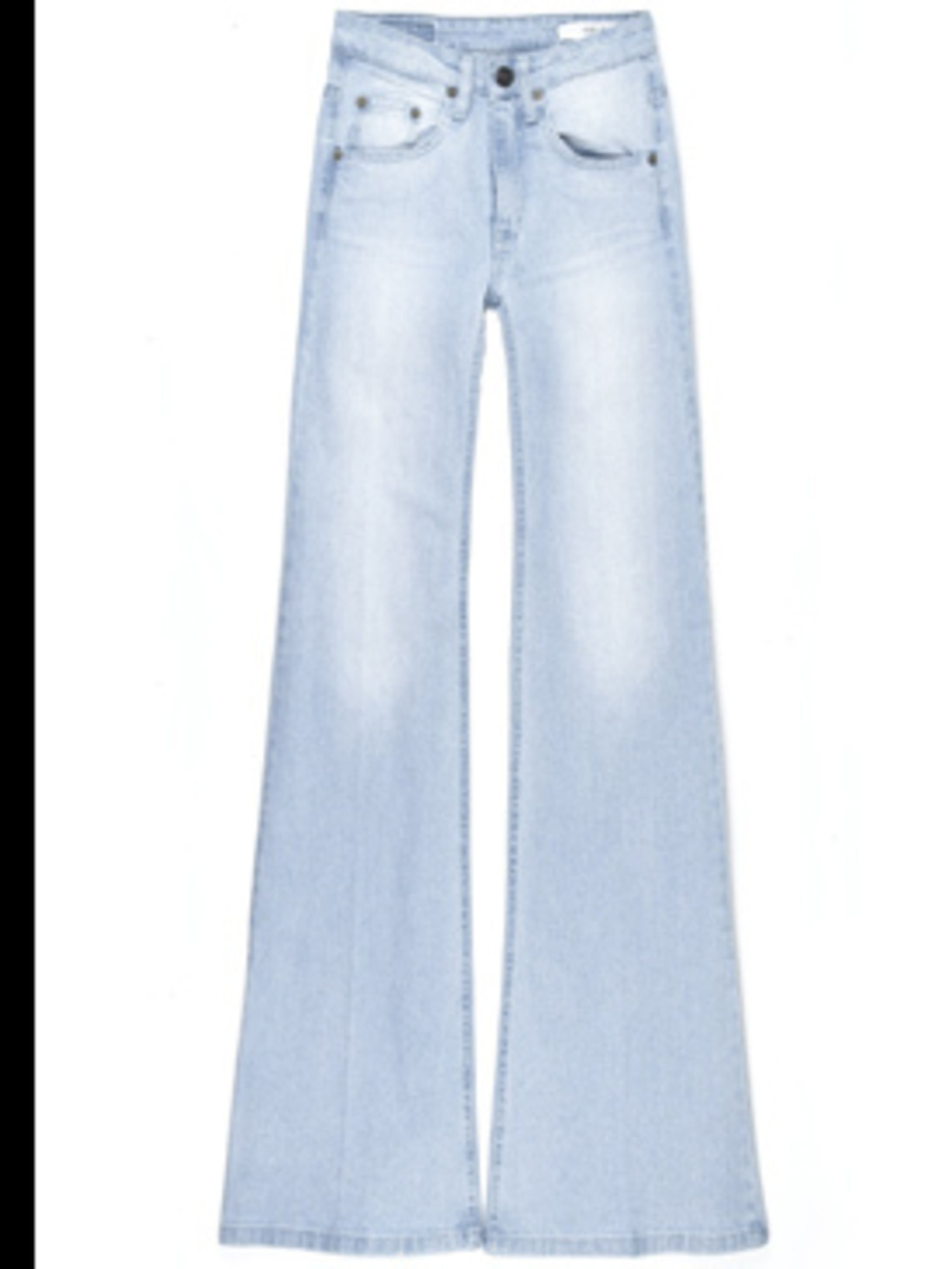 <p>'Colbert' flared jeans £175.50 by 18th Amendment, for stockists call 0207 225 3816 </p>