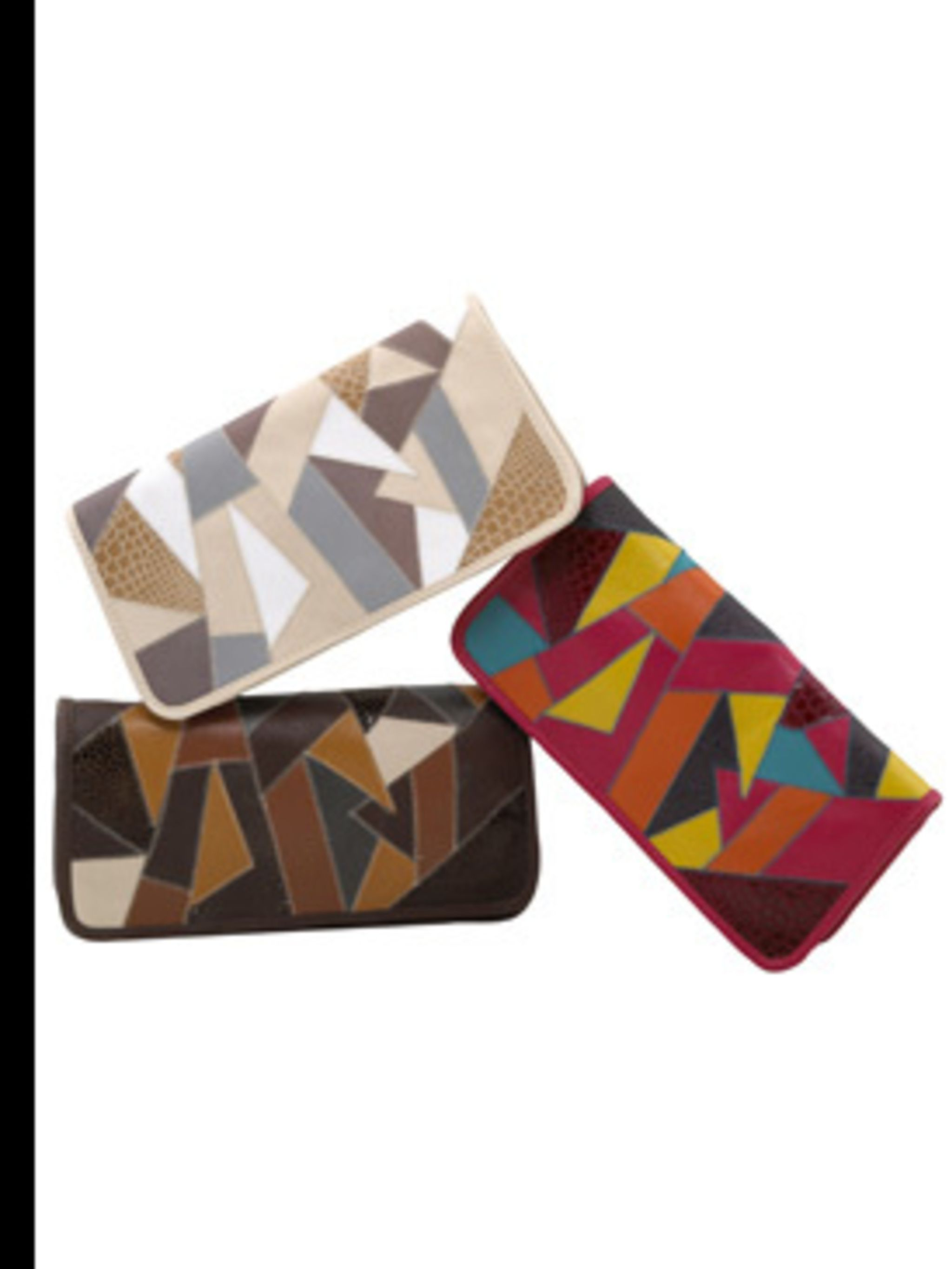 <p>Patchwork clutch £15 by New Look</p>