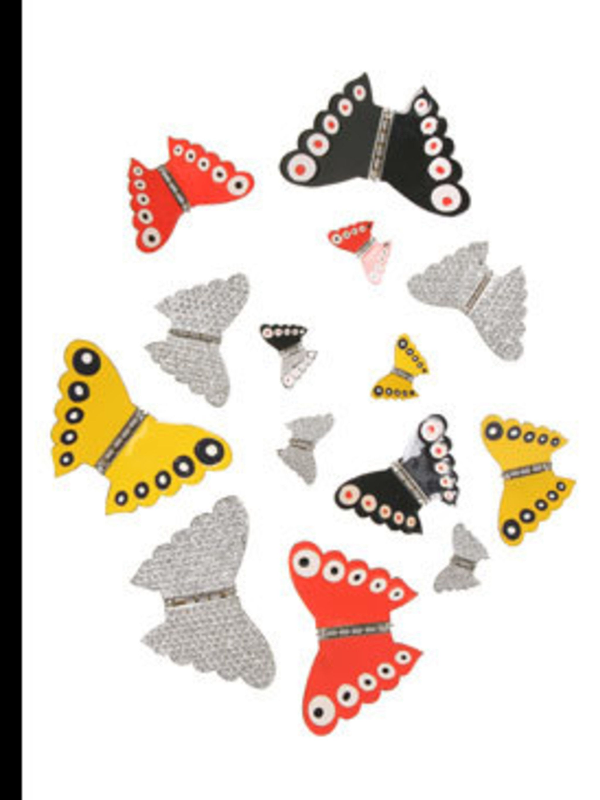 <p>Butterfly hair clips, from £22 to £136 by Sonia Rykiel, for stockists call 020 7493 5255</p>