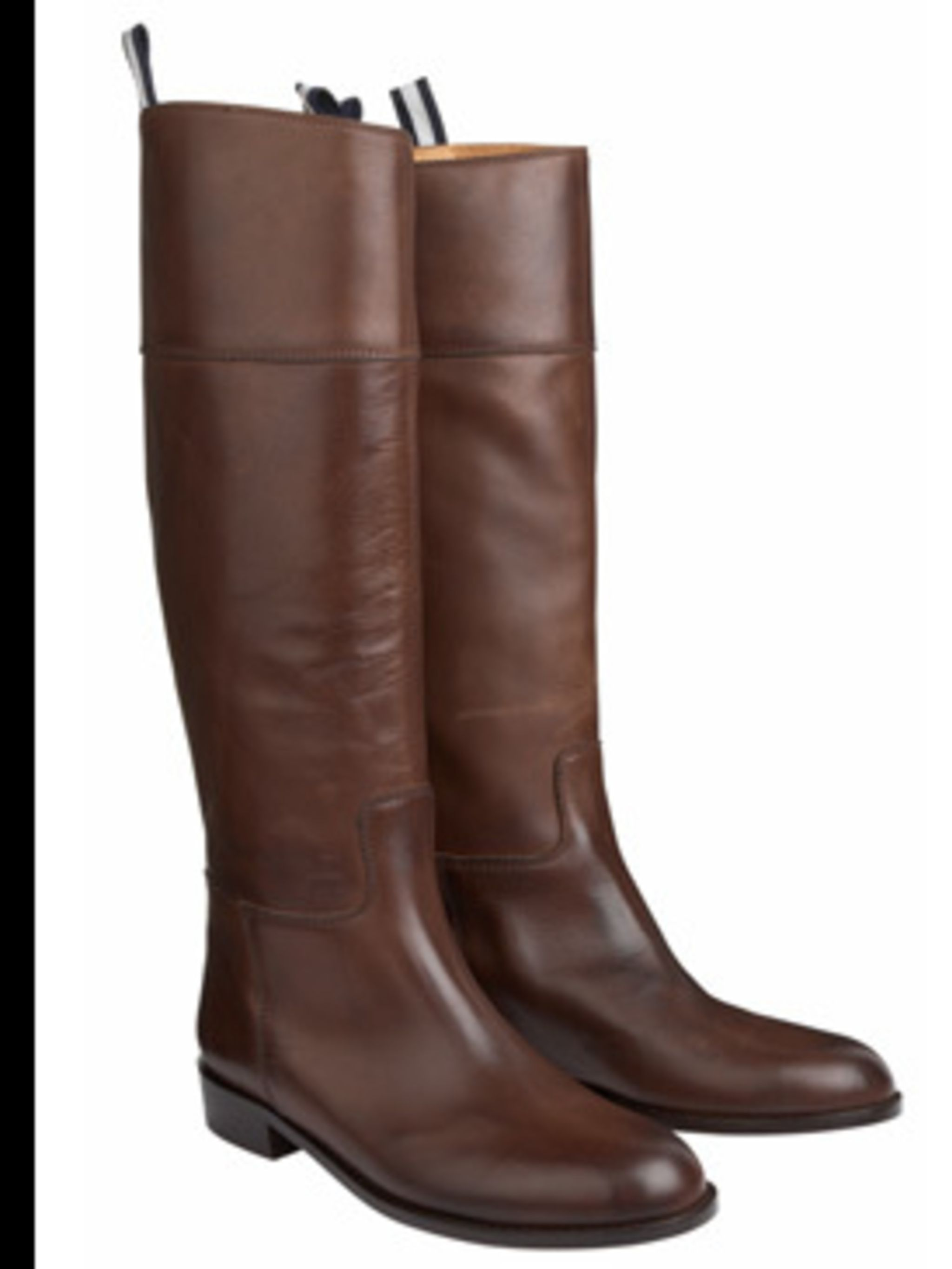 <p>Brown 'Winnie' boots £215 by Jigsaw, for stockists call 0208 392 5600</p>