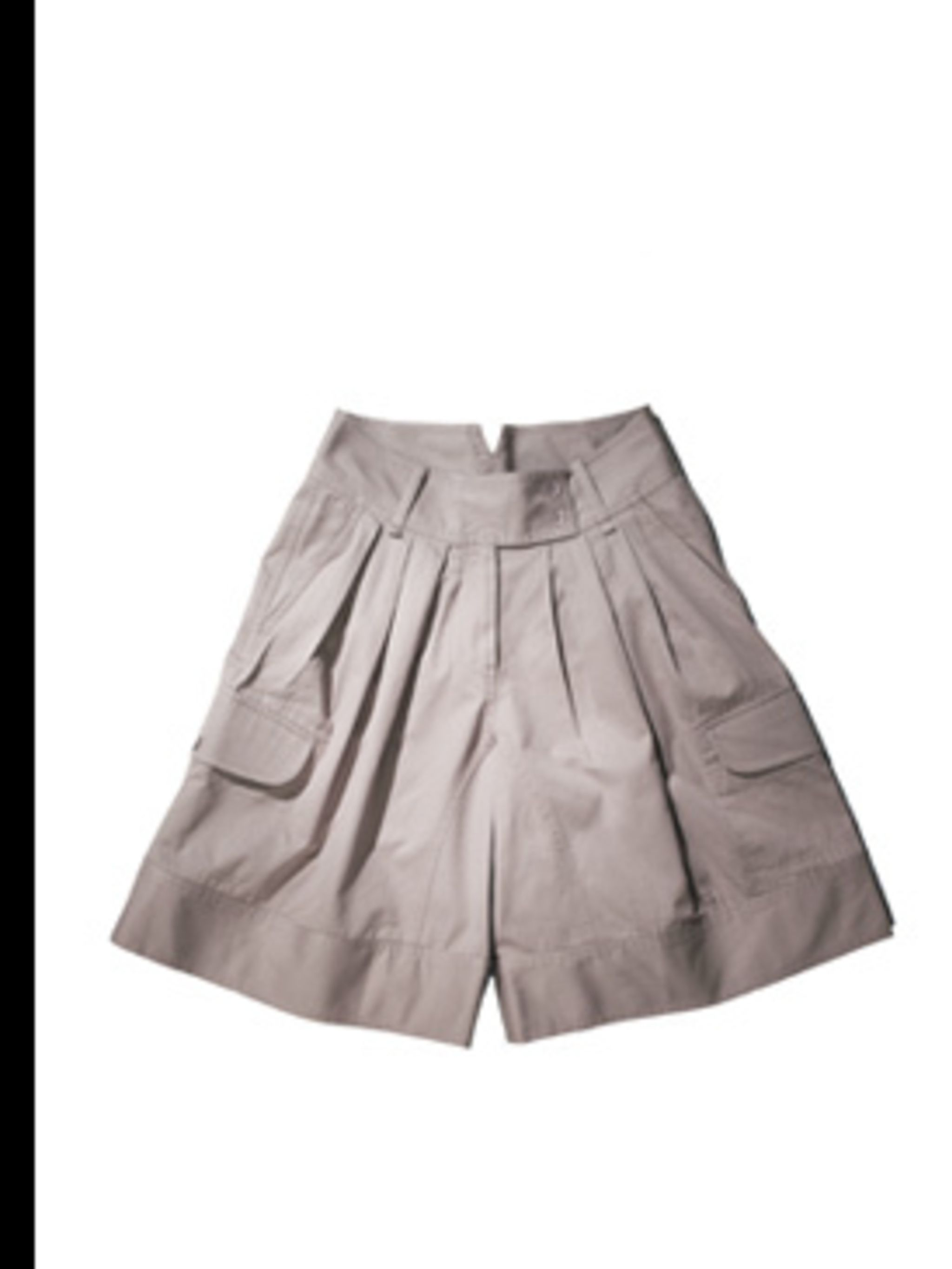<p>Grey cotton shorts, £35 by Gap, for stockists 0800 427 789</p>