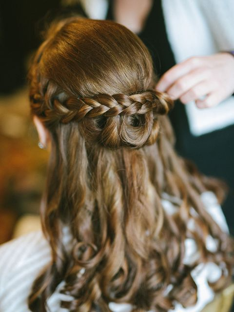 <p>My wedding hair.</p>