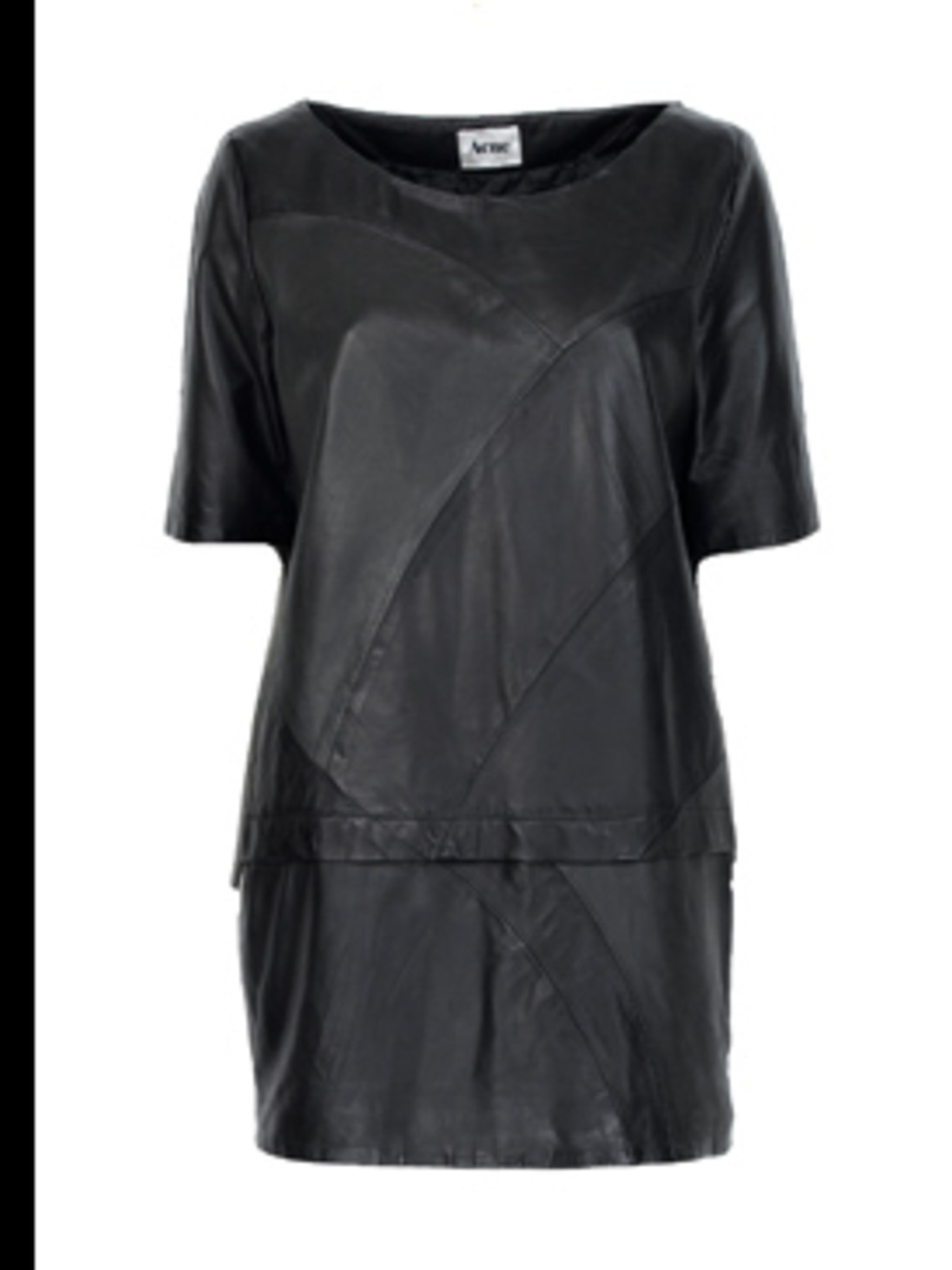 <p>'Dynamo' Leather dress £550.00 by Acne. For stockists call 0207 514 0039 </p>