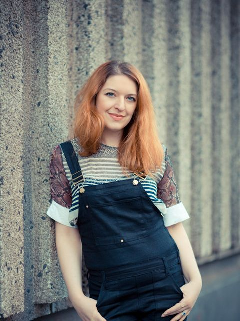 <p>Natasha Pearlman - Deputy Editor.</p>  <p>Preen top and Frame Denim dungarees.</p>