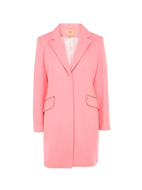 "<p><a href=""http://www.coast-stores.com/pink-crombie-coat-petite/jackets,-coats-&-cover-ups/coast/fcp-product/1388360?locale=en"" target=""_blank"">Coast pink coat</a>, £175<br />  </p>"