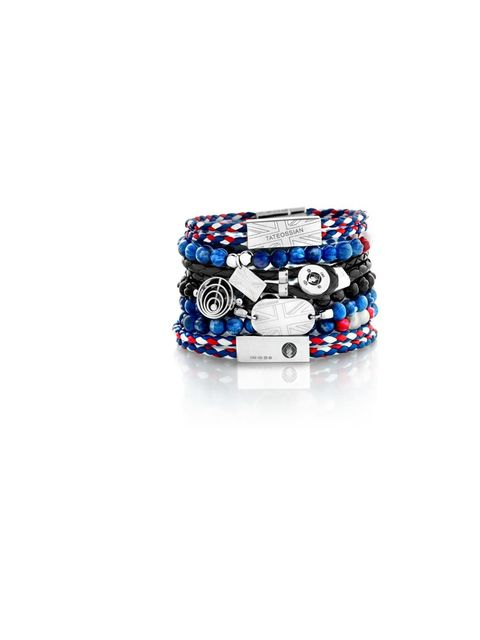 <p>Tateossian bracelets, from £85, for stockists call 0207 384 8336</p>