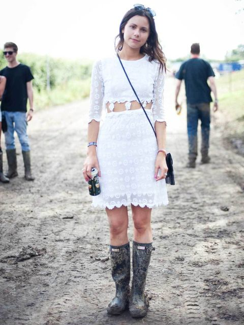 <p>Florrie, 24. Topshop dress, Dolce & Gabbana sunglasses.</p>
