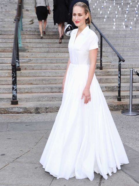 <p>Leelee Sobieski wore Jil Sander to a party at the Tribeca Film Festival</p>