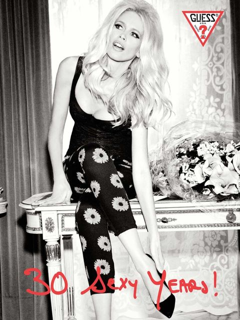 <p>Claudia Schiffer for Guess</p>