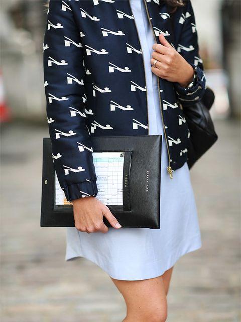 Kirsty Dale – Executive Fashion and Beauty Director  Orla Kiely jacket, Topshop dress.