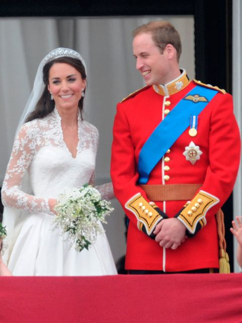 Prince William, in full military dress, wed Kate Middleton in April 2011.