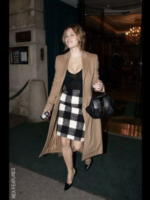 <p>Teaming her Chloe L.W.D with a YSL Downtown</p>