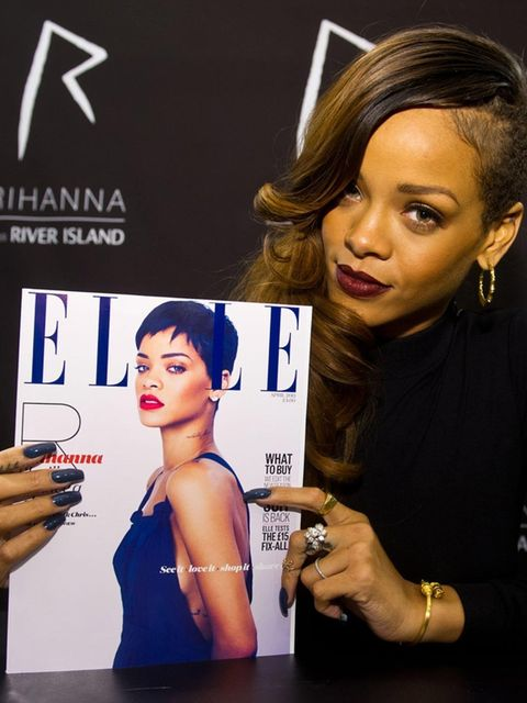 <p>Rihanna with her special River Island ELLE cover</p>