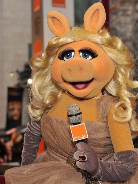 <p>Miss Piggy at the 2012 Baftas</p>
