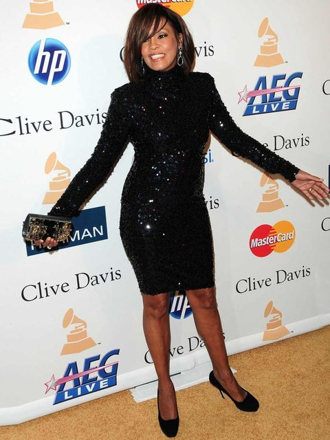 <p>Whitney Houston at a Pre-Grammy awards party in LA, February 2011.</p>