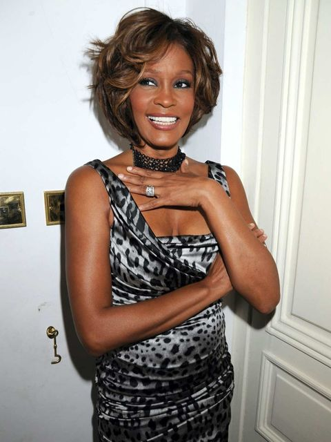 <p>Whitney Houston at her album preview in London, July 2009.</p>