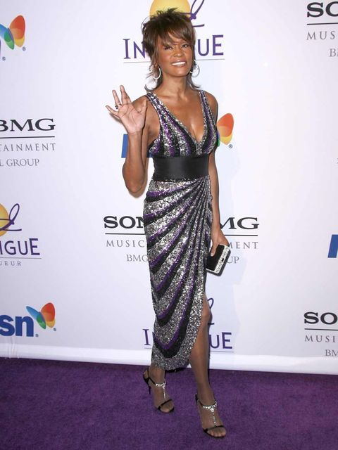<p>Whitney Houston at a Pre-Grammy awards party in LA, February 2008.</p>