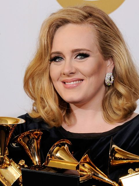 <p>Adele at the 2012 Grammy Awards</p>